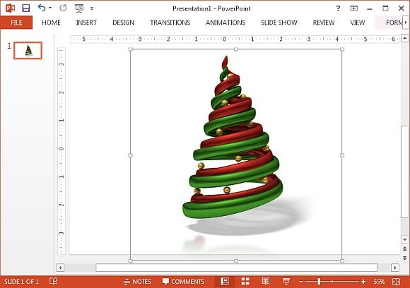 Red adn green Christmas tree clipart