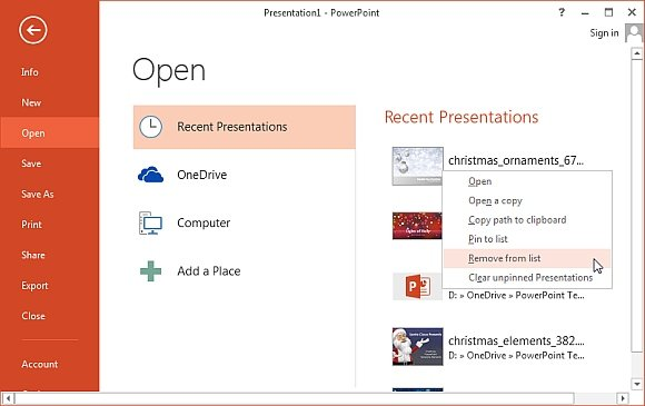 How to clear recent files history in powerpoint word and excel remove recent files toneelgroepblik Image collections