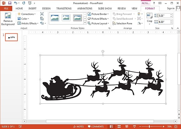 Santas reindeer sleigh ride clipart