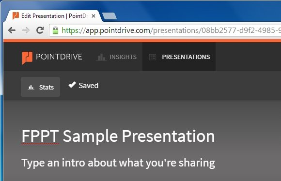 Add a title to Point Drive presentation