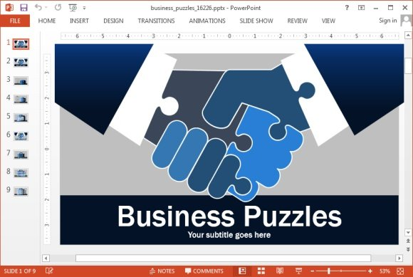 Animated business puzzle powerpoint template toneelgroepblik Image collections