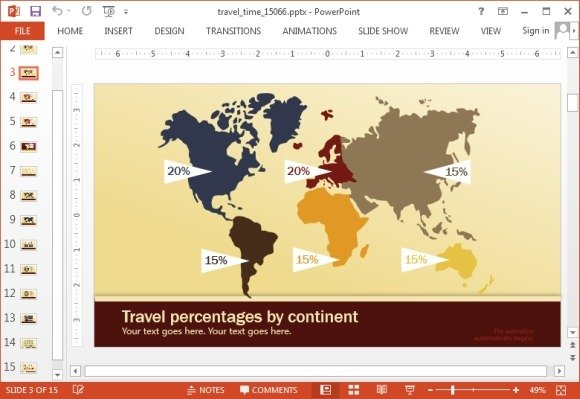 Travel time powerpoint template animated travel time powerpoint template gumiabroncs Images