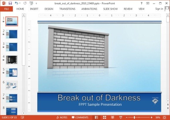 Breaking wall animation for PowerPoint