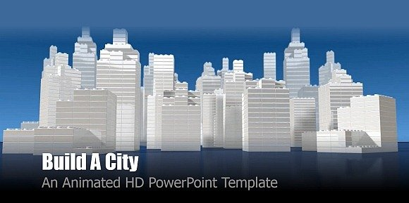 Build a city animated PowerPoint template