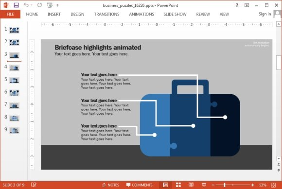 Business puzzle templates for PowerPoint