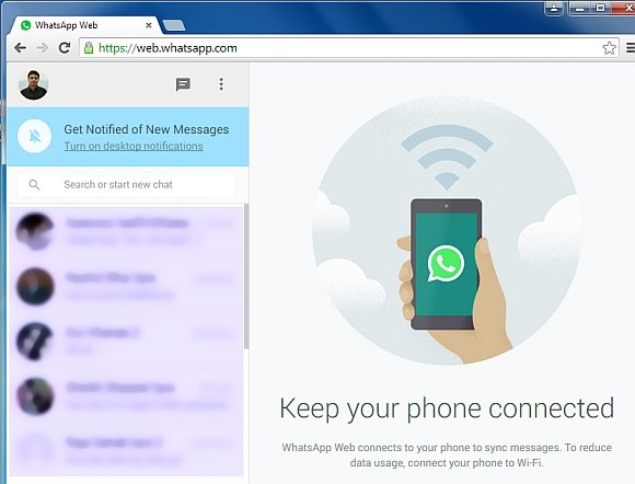 Connecting to WhatsApp Web