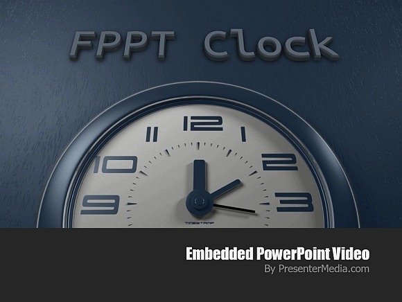 Customizable clock animation for PowerPoint