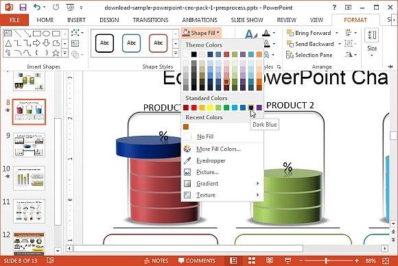 Format editable PowerPoint diagrams