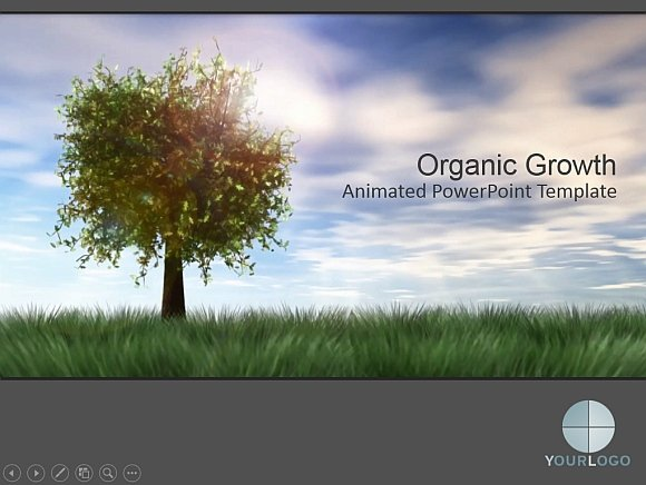 Animated meadow powerpoint templates organic growth powerpoint template toneelgroepblik Images