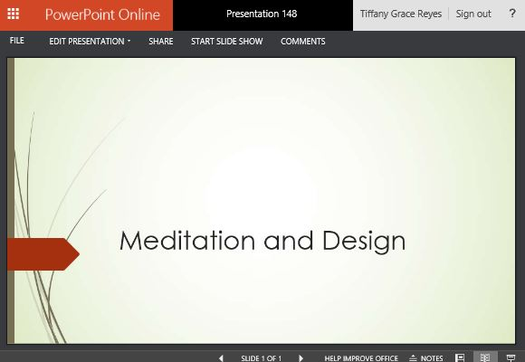 Wisp powerpoint template presentations for relaxation meditation and design toneelgroepblik Gallery