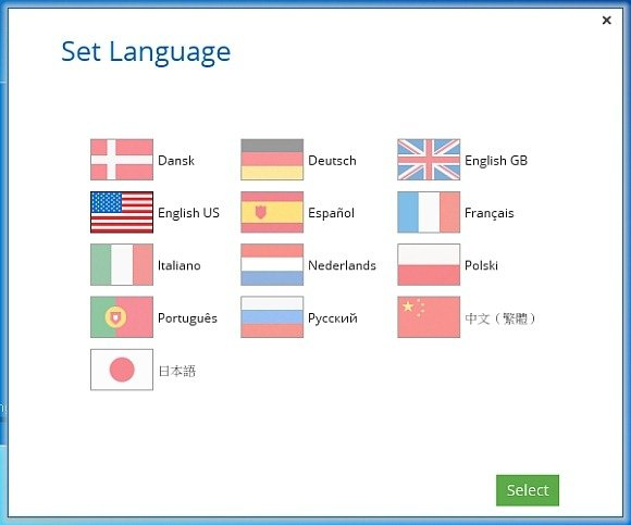 Select language for your mind map