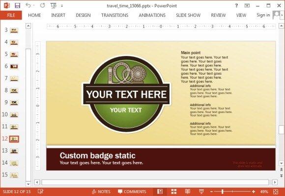 Slide for custom logo and branding