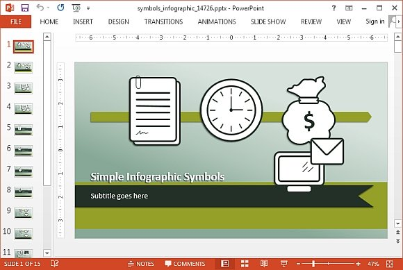 Symbols infographic template for PowerPoint