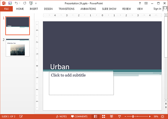 Free urban theme for powerpoint online urban powerpoint template toneelgroepblik Gallery