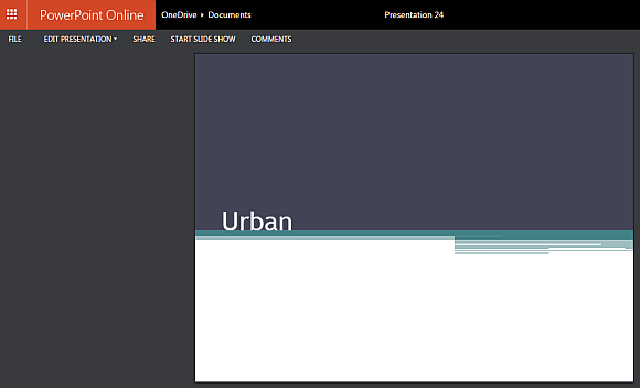 Free Urban Theme For Powerpoint Online