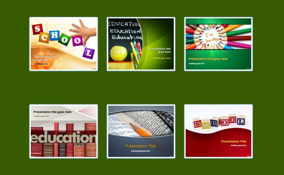 free educational powerpoint templates