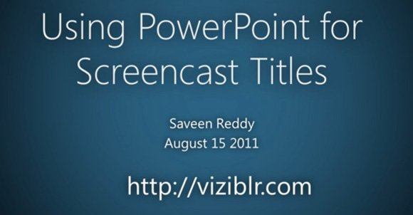 Using PowerPoint for Demos & Screencast