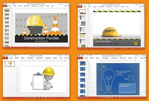 Animated construction PowerPoint templates