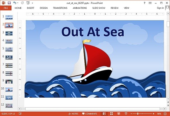 Animated out at seat PowerPoint template