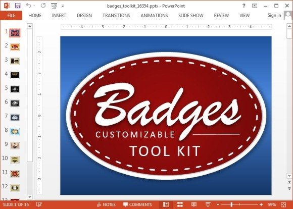 Badges toolkit for PowerPoint