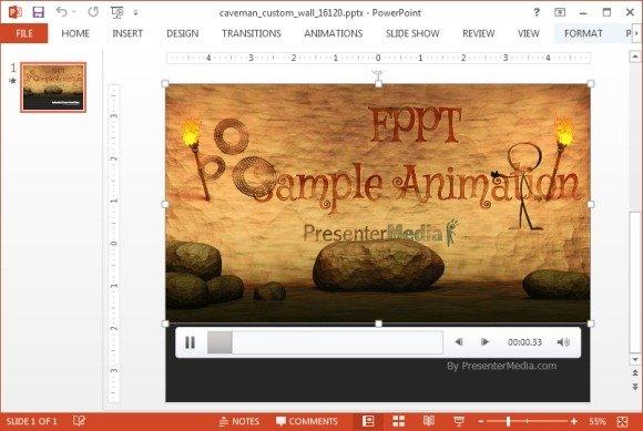 Caveman animated clipart