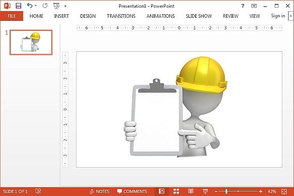 Construction hardhat with clipboard clipart