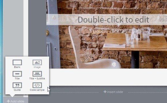 Create new online slides