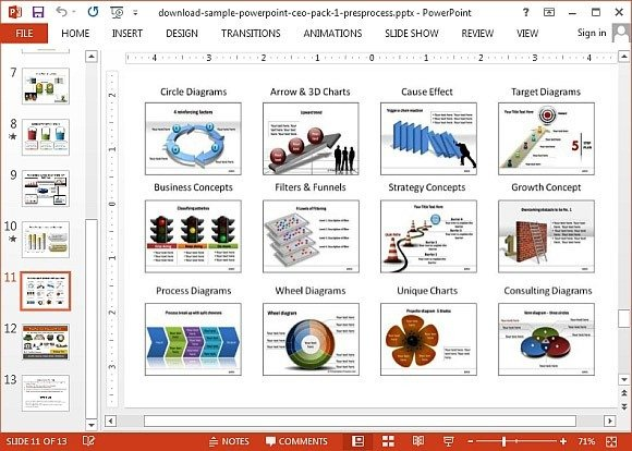 Draw a 3D staircase in PowerPoint