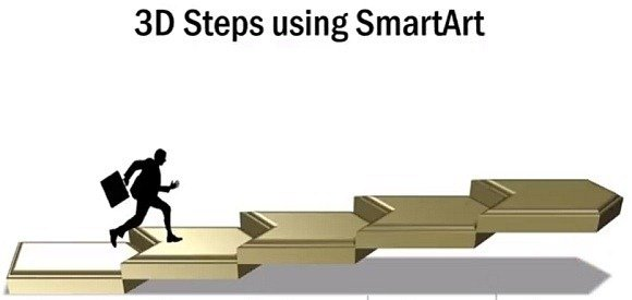 How to create 3D staircase in PowerPoint