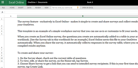 survey templates in excel