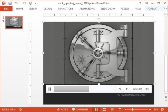 Opening vault animation for PowerPoint
