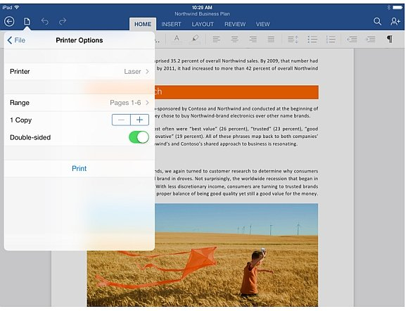 Print documents from iPad