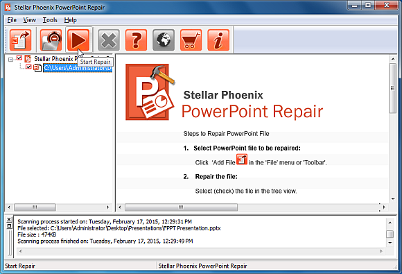 Repair corrupt PowerPoint files