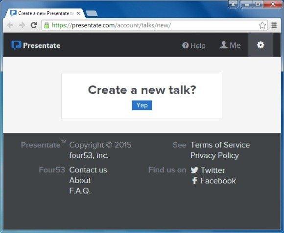 Start a New Talk