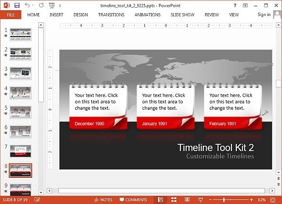 Animated timeline toolkit 2 for PowerPoint
