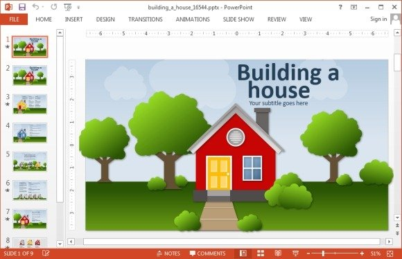 animated real estate powerpoint templates, Modern powerpoint