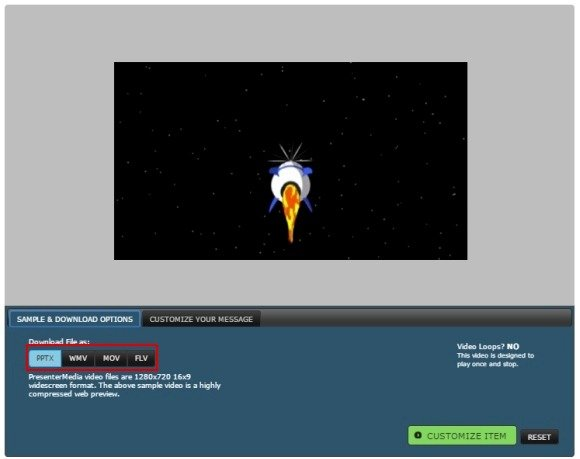 Customizable space PowerPoint template with video