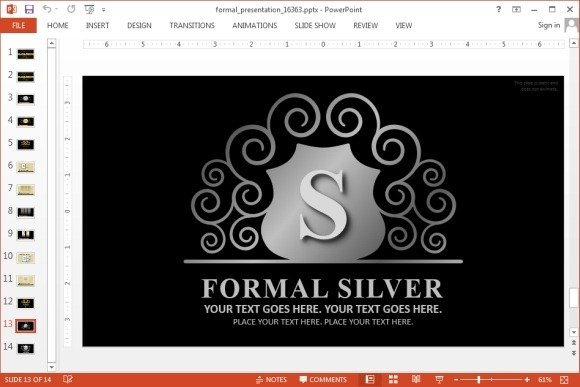 Elegant PowerPoint template