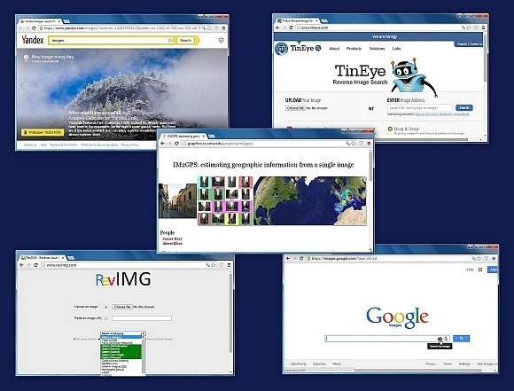 Free reverse image search engines