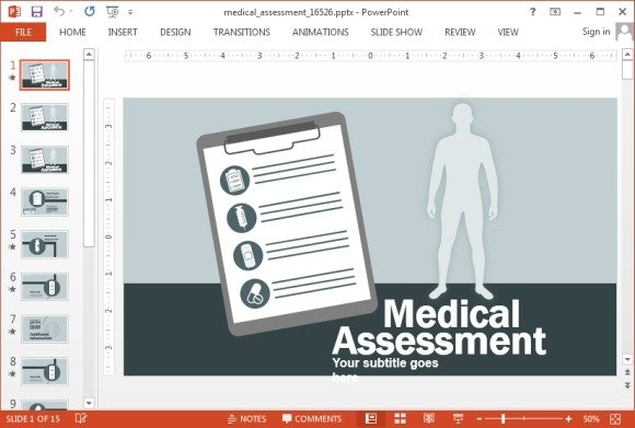 Medical Assessment Powerpoint Template
