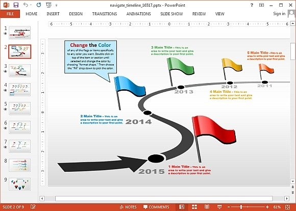 Navigate timeline for PowerPoint