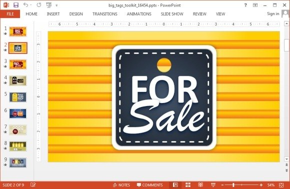 Sales tag template for PowerPoint