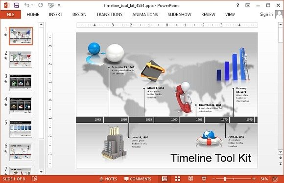Timeline toolkit with animations