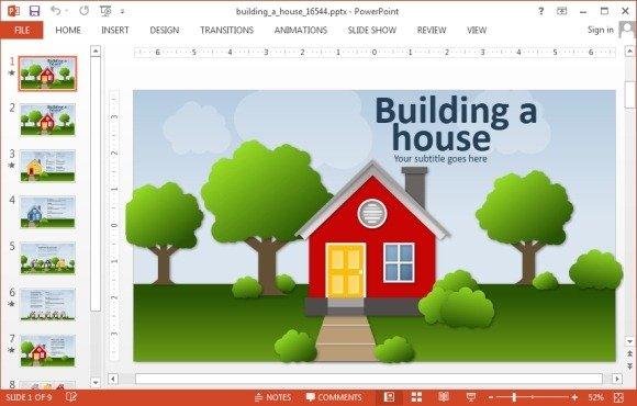 Animated building a house powerpoint template toneelgroepblik Choice Image