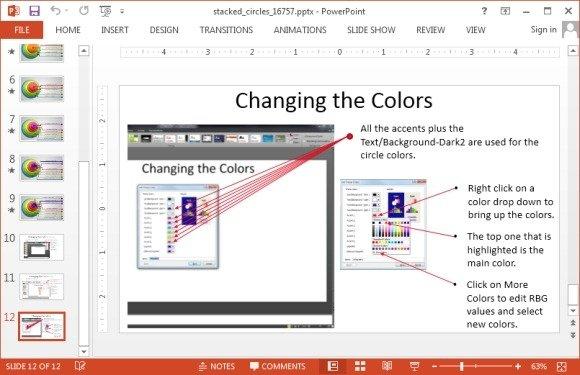 Change colors of circular diagram