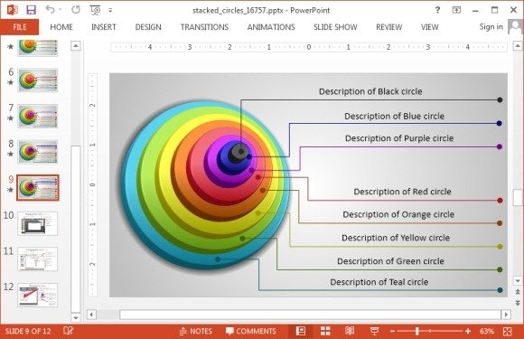 Complete circular diagram