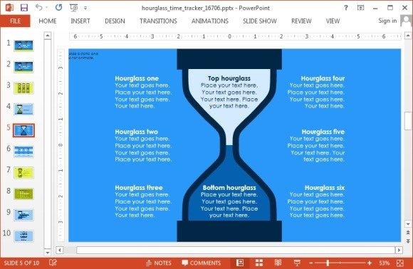 Hour glass diagram slide