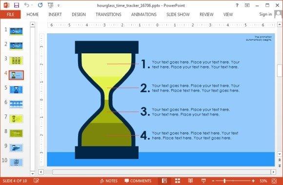 Hour glass slide