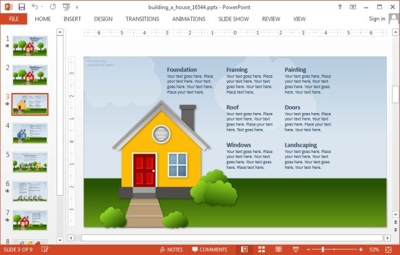 Animated building a house powerpoint template house powerpoint template toneelgroepblik Gallery