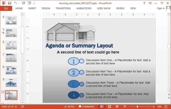 housing real estate presentation template jpg fppt